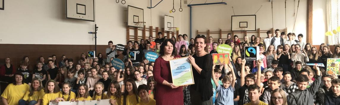 Vsetín má už třetí Fairtradovou školu. Stala se jí ZŠ Vsetín Ohrada.